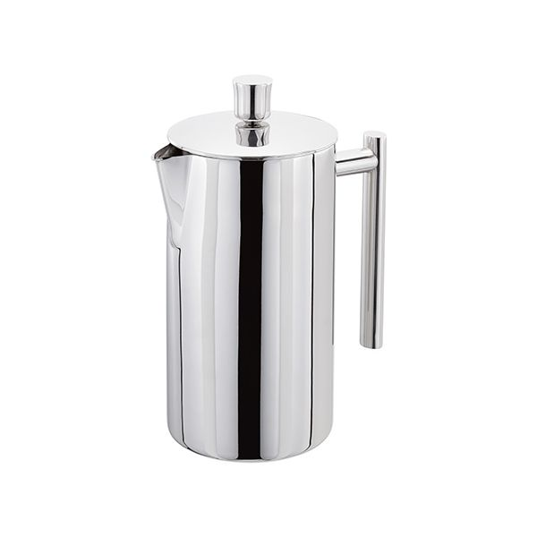 Stellar 8 Cup Polished Double Wall Insulated Cafetiere