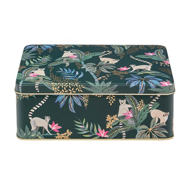 Sara Miller Tahiti Lemur Deep Rectangular Storage Tin