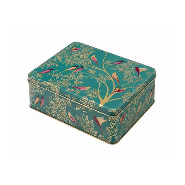 Sara Miller Green Birds Deep Rectangular Tin