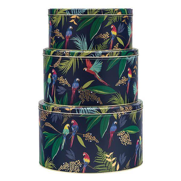 Sara Miller Parrot Set of 3 Round Cake Tins