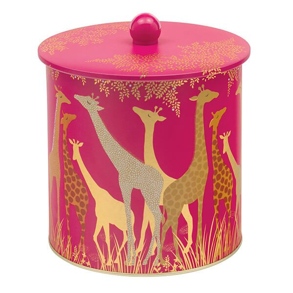 Sara Miller Giraffe Biscuit Barrel Tin