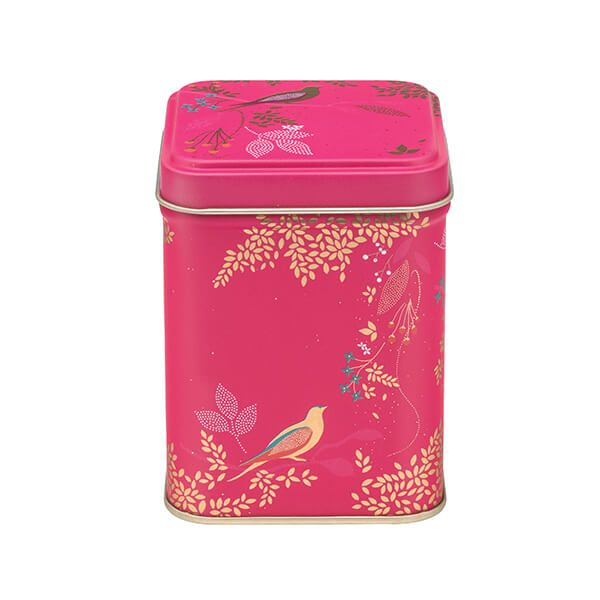 Sara Miller Pink Birds 100gm Square Tin