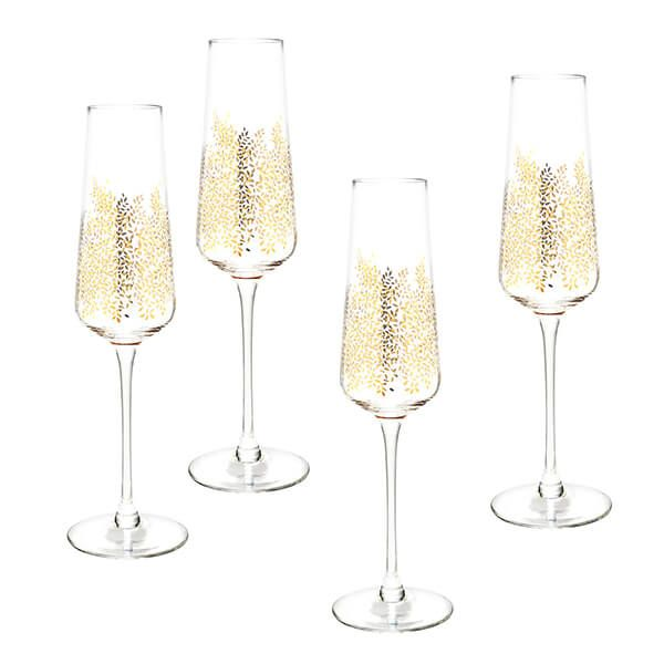 Sara Miller Chelsea Collection Set of 4 Champagne Flutes