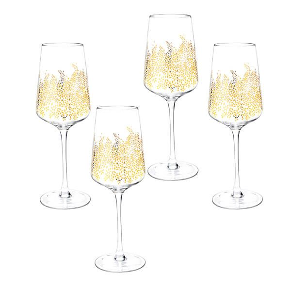 Sara Miller Chelsea Collection Set of 4 Wine Glasses