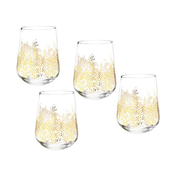 Sara Miller Chelsea Collection Set of 4 Stemless Wine Glasses