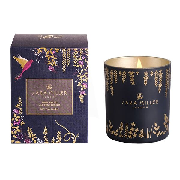 Sara Miller London Amber, Orchid & Lotus 200g Candle