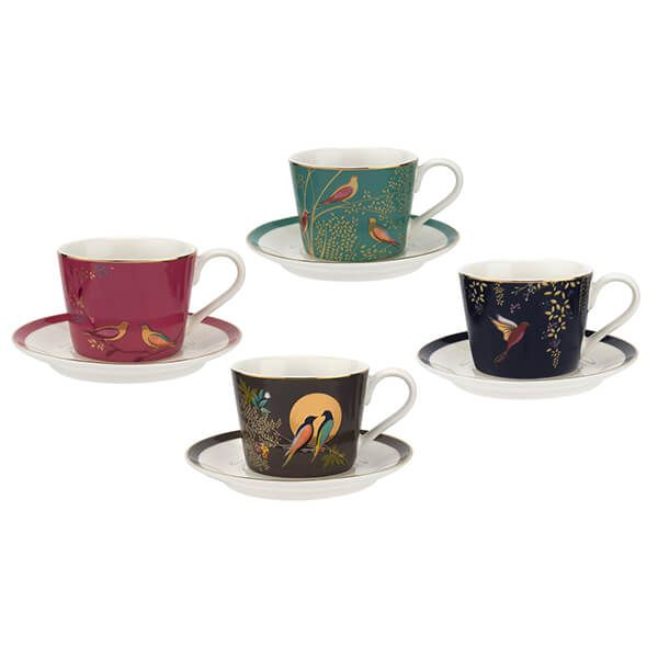 Sara Miller Chelsea Collection Espresso Cup & Saucer Set of 4