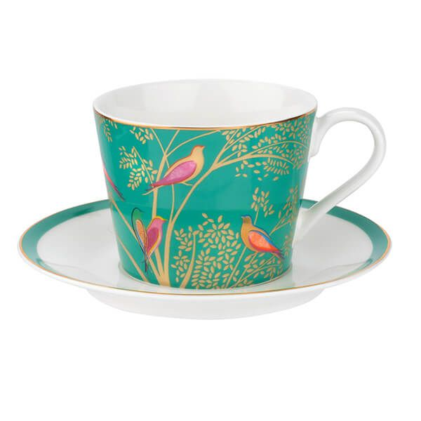 Sara Miller Chelsea Collection Green Tea Cup & Saucer