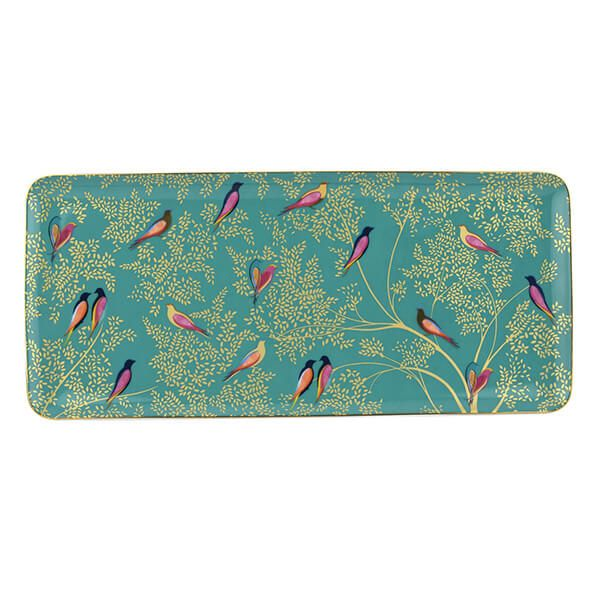 Sara Miller Chelsea Collection Green Sandwich Tray
