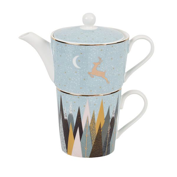Sara Miller Frosted Pines Collection Tea for One