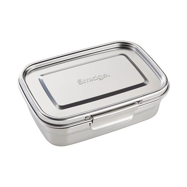 Smidge Stainless Steel Lunch Box with Divider 1L
