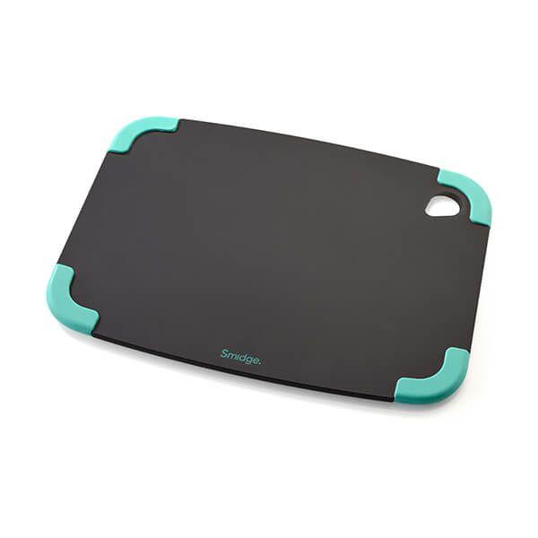 Smidge Slice Chopping Board 29 x 22 x 0.6cm Slate & Aqua