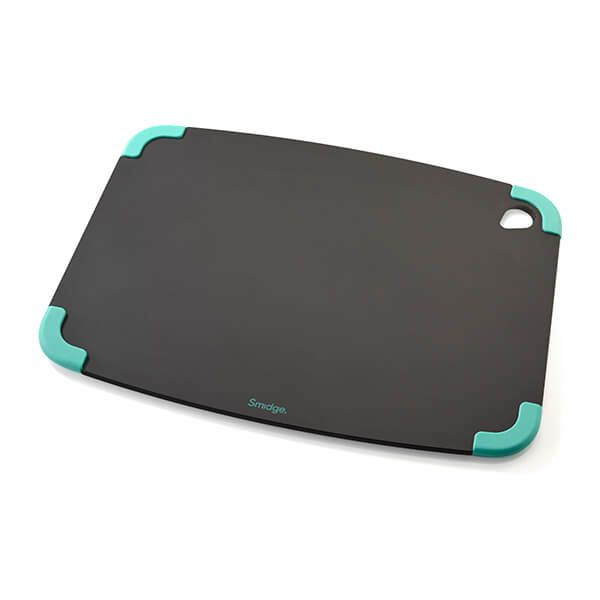 Smidge Slice Chopping Board 36 x 28 x 0.6cm Slate & Aqua