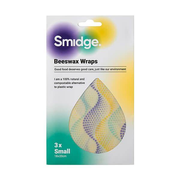 Smidge Beeswax Wrap Small 3 Piece Set