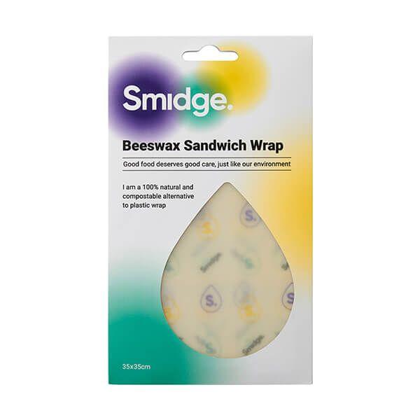 Smidge 35 x 35cm Beeswax Sandwich Wrap Droplet