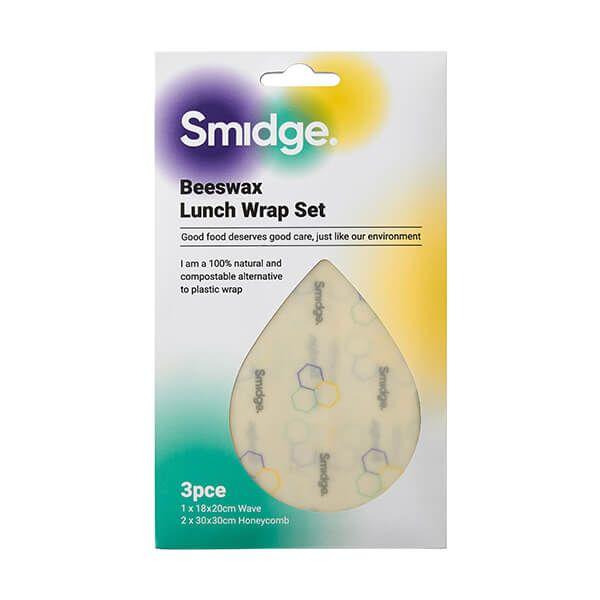 Smidge Beeswax Wrap Lunch 3 Piece Set