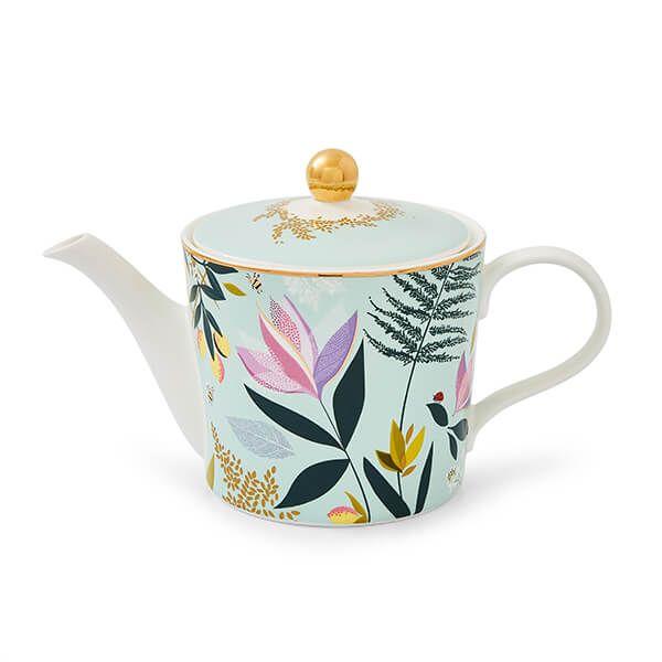 Sara Miller Orchard Sage Teapot