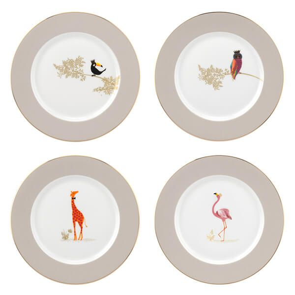 Sara Miller Piccadilly Collection Set of 4 Cake Plates Range I
