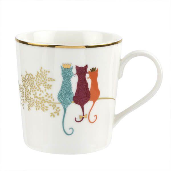 Sara Miller Piccadilly Feline Friends Mug