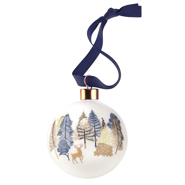 Sara Miller Ceramic Prancing Deer Christmas Decoration