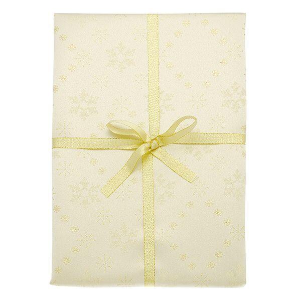 Walton & Co Snowflake Sparkle Gold Tablecloth 140x280cm