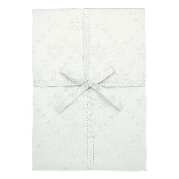 Walton & Co Snowflake Sparkle Silver Tablecloth 140x140cm