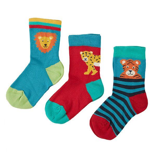Frugi Organic Big Cat Multipack Little Socks 3 Pack