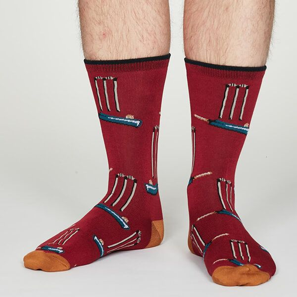 Thought Cranberry Perry Socks