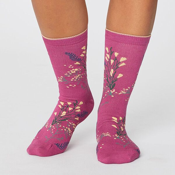 Thought Magenta Pink Florie Super Soft Daisy Socks Size 4-7