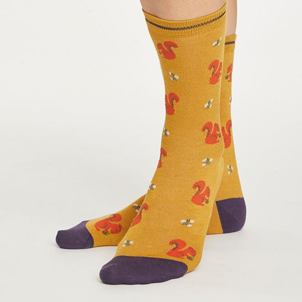 Thought Gold Squirrel Socks