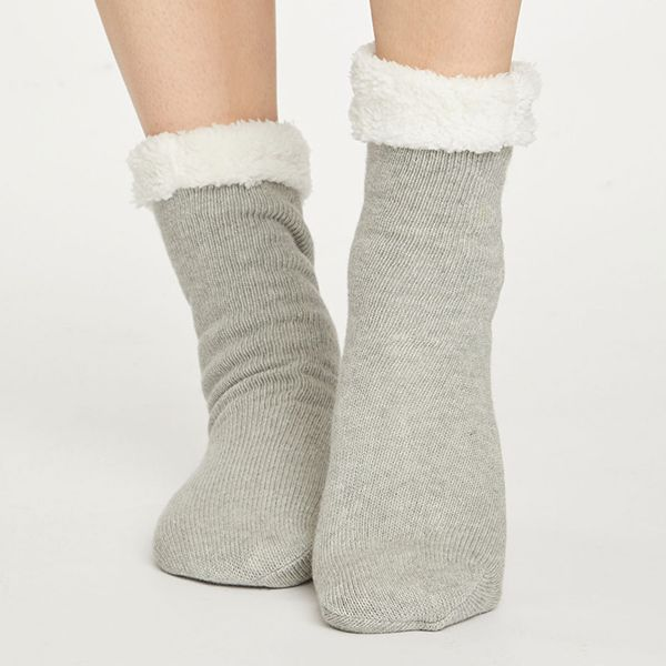 Thought Grey Marle Sleepy Cabin Socks