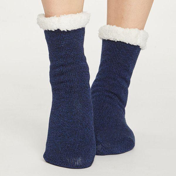 Thought Midnight Navy Sleepy Cabin Socks