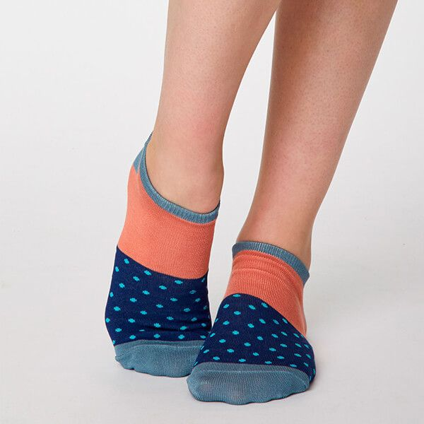Thought Twilight Blue Esther Trainer Socks