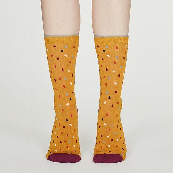 Thought Mustard Emme Bamboo Spot Socks