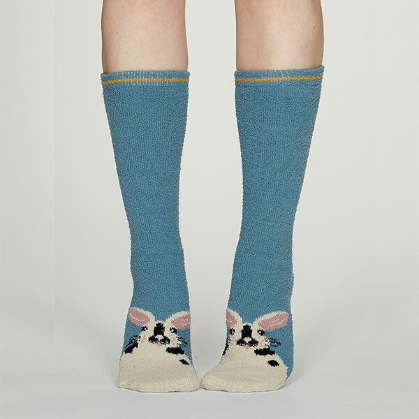 Thought Powder Blue Rebecca Fuzzy Socks