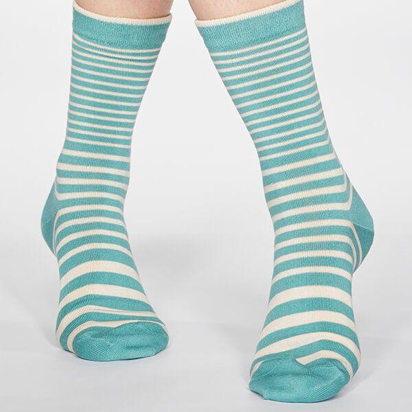 Thought Field Green Jacinda Stripe Socks