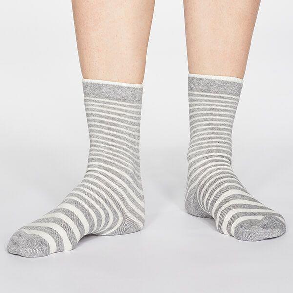 Thought Grey Marle Jacinda Stripe Socks