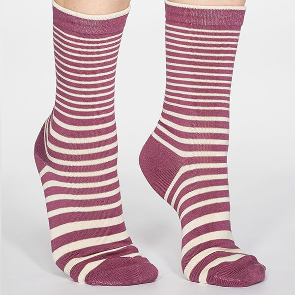 Thought Mauve Pink Jacinda Stripe Socks