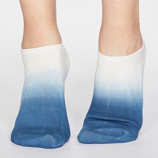 Thought Denim Blue Mercy Dip Dye Socks