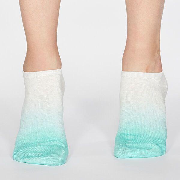 Thought Jade Green Mercy Dip Dye Socks