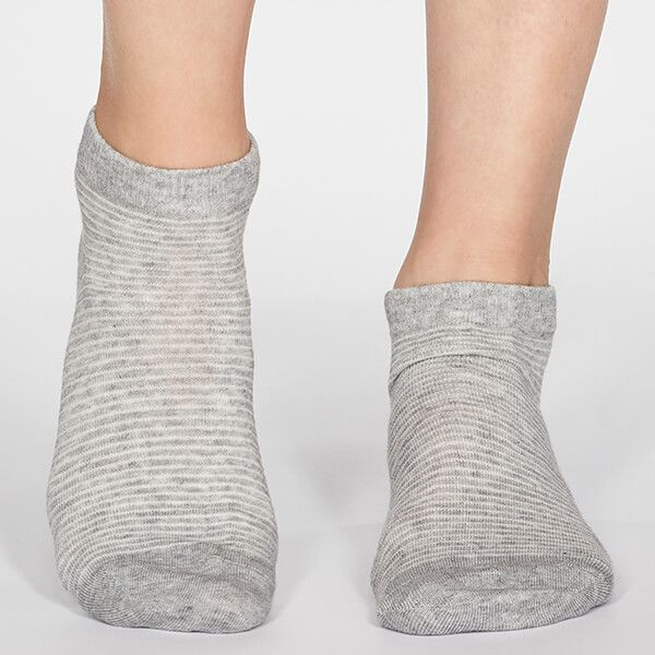 Thought Grey Marle Peggy Stripe Socks
