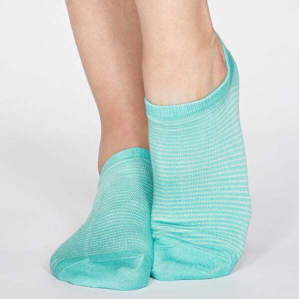Thought Jade Green Peggy Stripe Socks