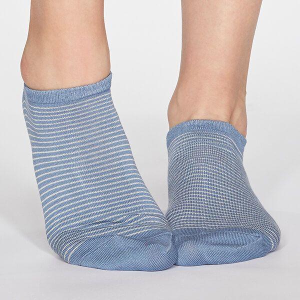 Thought Powder Blue Peggy Stripe Socks