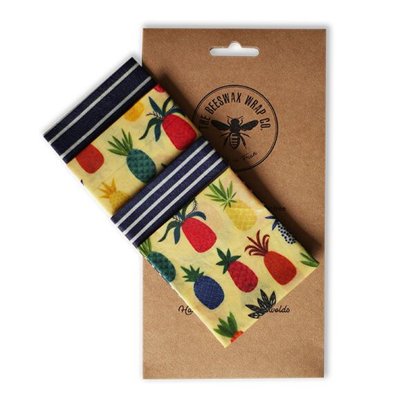 The Beeswax Wrap Co. Beeswax Wrap Pineapple Print Lunch Pack