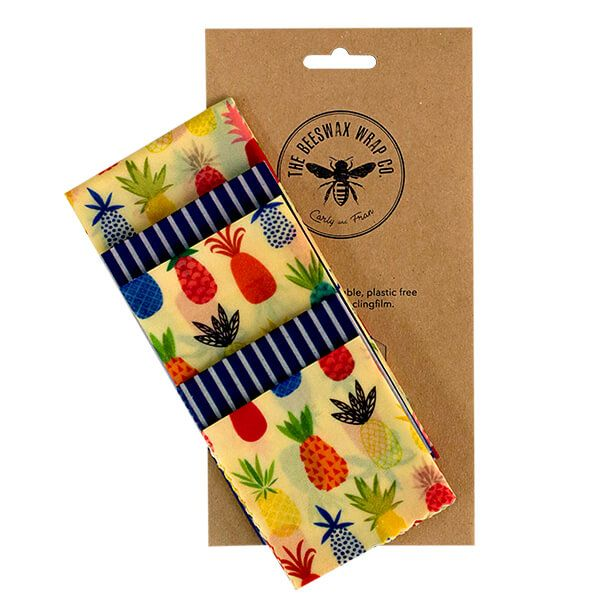 The Beeswax Wrap Co. Beeswax Wrap Pineapple Print Large Kitchen Pack
