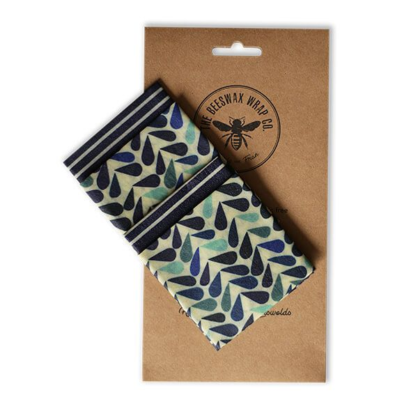 The Beeswax Wrap Co. Beeswax Wrap Dewdrop Print Lunch Pack
