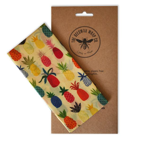 The Beeswax Wrap Co. Beeswax Pineapple Print Bread Wrap