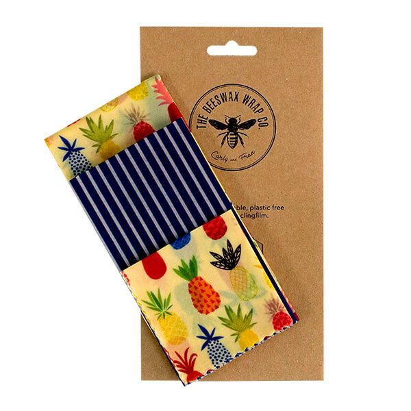 The Beeswax Wrap Co. Beeswax Wrap Pineapple Print Medium Kitchen Pack