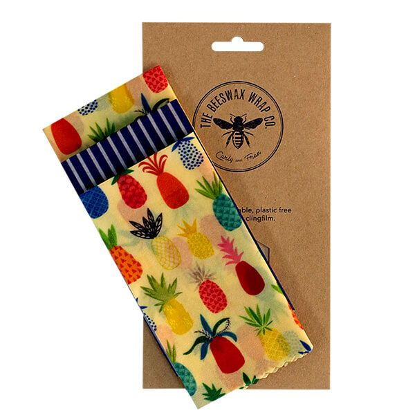 The Beeswax Wrap Co. Beeswax Pineapple Print Cheese Wrap