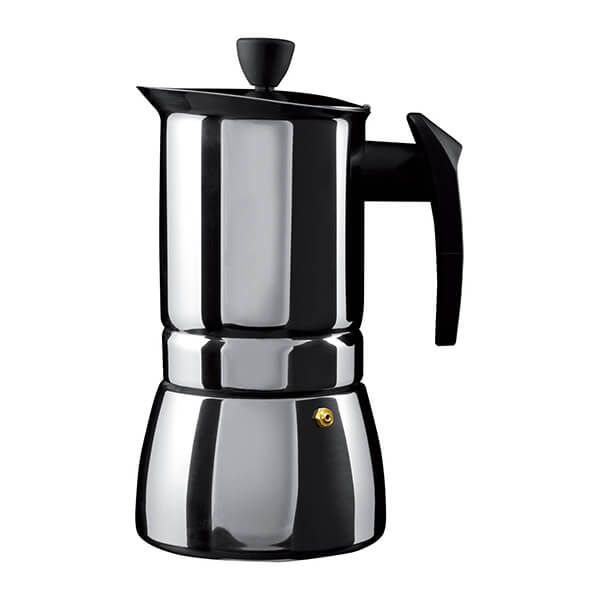 Grunwerg 4 Cup Cafe Ole Espresso Maker Induction Stainless Steel